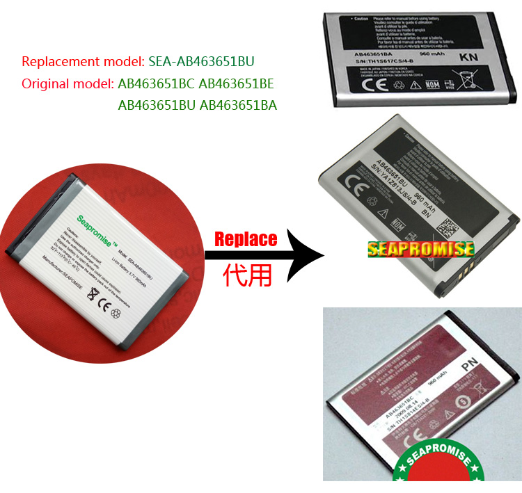 freeshipping retail AB463651BU battery for <font><b>SAMSUNG</b></font> F278 F400 F408 J800 J808 <font><b>L700</b></font> L708 T739 ZV60 239 S5628i S5620 C3518 S5628 image