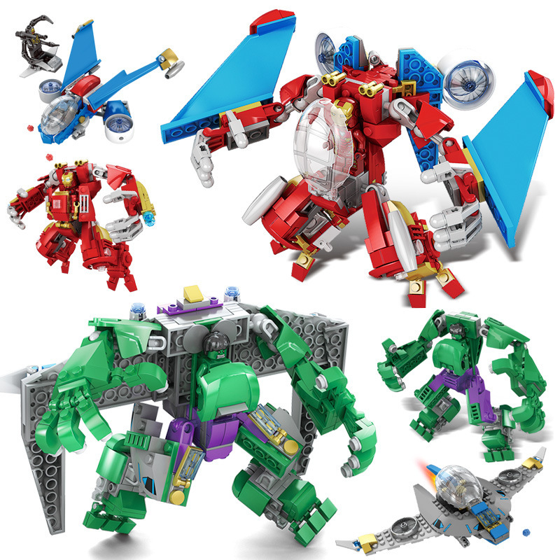 Building Blocks Super Heroes Legoinglys Marvel Avengers Infinity War Thanos Hulk Iron Man Spiderman Kids Toys For Children