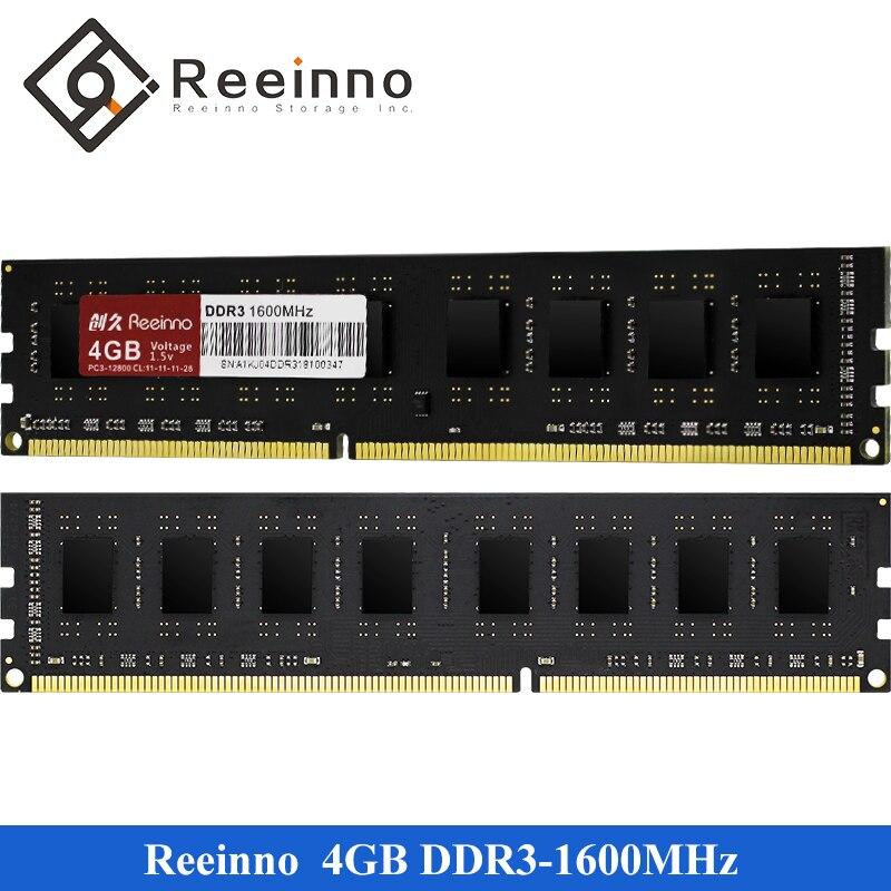 Reeinno ram ddr3 4GB 8GB 1600MHz memory 1.5V New NON-ECC 240pin Lifetime warranty Single memory rams Desktop for Intel