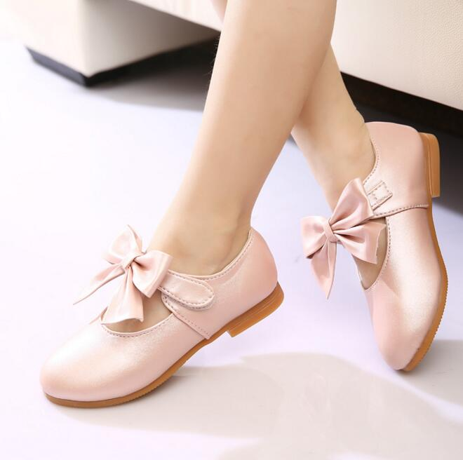 New Hot Summer Fashion Children Sandals Casual Leather Bowtie Kids Baby Girls Sandals Princess Flats Single Shoes