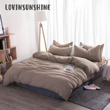 LOVINSUNSHINE  Bedding Set Duvet Cover Fronha King Simple Themed 4pcs Queen Bed Sheet AB#115