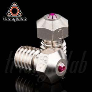Image 2 - trianglelab T V6 Plated Copper ruby nozzle Reprap v6 hotend Ultra high temperature Compatible with  PETG ABS PEI PEEK NYLON