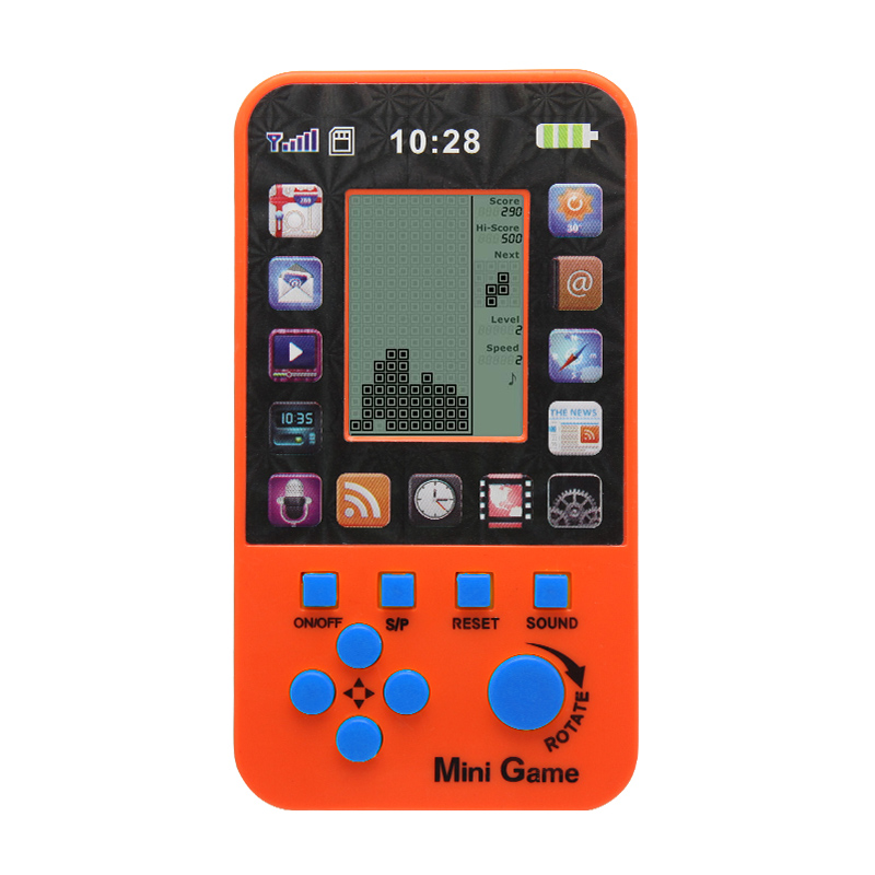 Free Shipping Kids Console For Children Toy Retro Tetris Game Console Classic Built-in 23 Games Intellectual Toys Console