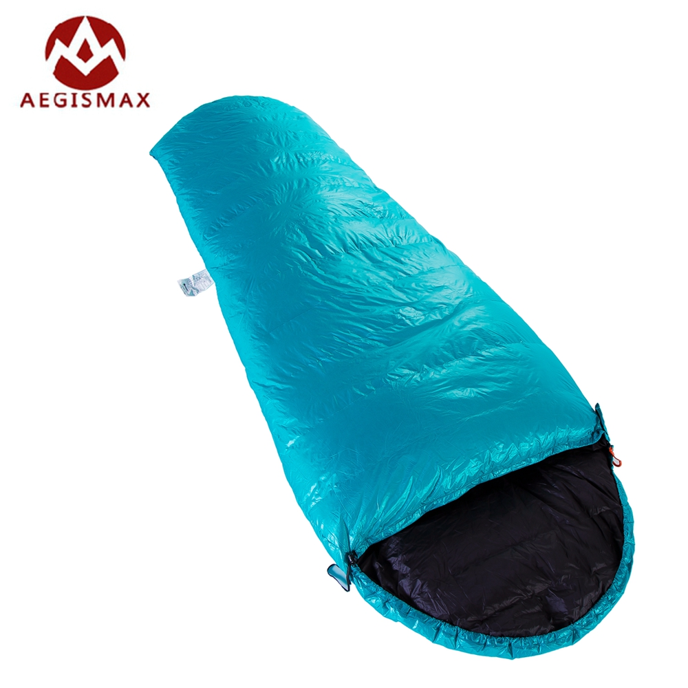 Aegismax Lengthened Mummy Sleeping Bag Winter E400 Splicing White Goose Down Sleeping Bag Camping Hiking 3Seasons Saco Dormir filling 3000g outdoor camping winter sleeping bag goose down splicing mummy ultra light goose down sleeping bag