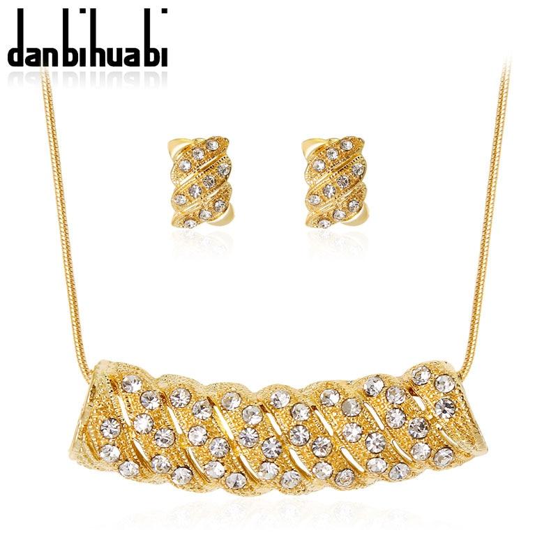 Danbihuabi Наборы свадебных ювелирных изделий и многое другое с жемчугом и кристаллами для Для женщин Юбилей высокое качество