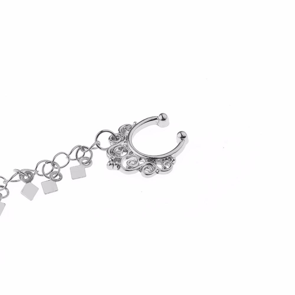 HTB1B9c8SpXXXXbUaXXXq6xXFXXXL Nose to Ear Ring - No Pierce Clip on Fashion Jewelry