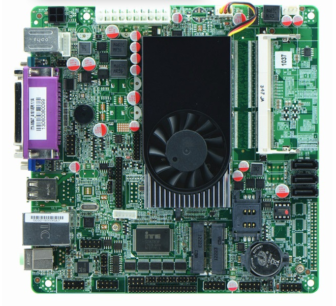 1037U double noyau 22nm CPU/6 * COM/double 24bit LVDS/POS cartes mères industrielles/cartes mères ATM/Mini ITX