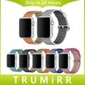 2016 de tecido de nylon pulseira para apple watch 38 iwatch mm 42mm substituição banda alça de pulso pulseira de tecido multi cores + adaptador