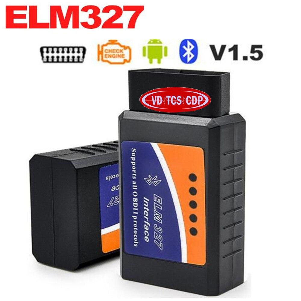 <font><b>2017</b></font> ELM 327 V 1.5 BT adapter Works On Android Torque Elm327 <font><b>Bluetooth</b></font> V1.5 Interface <font><b>OBD2</b></font> / OBD II Auto Car Diagnostic-Scanner
