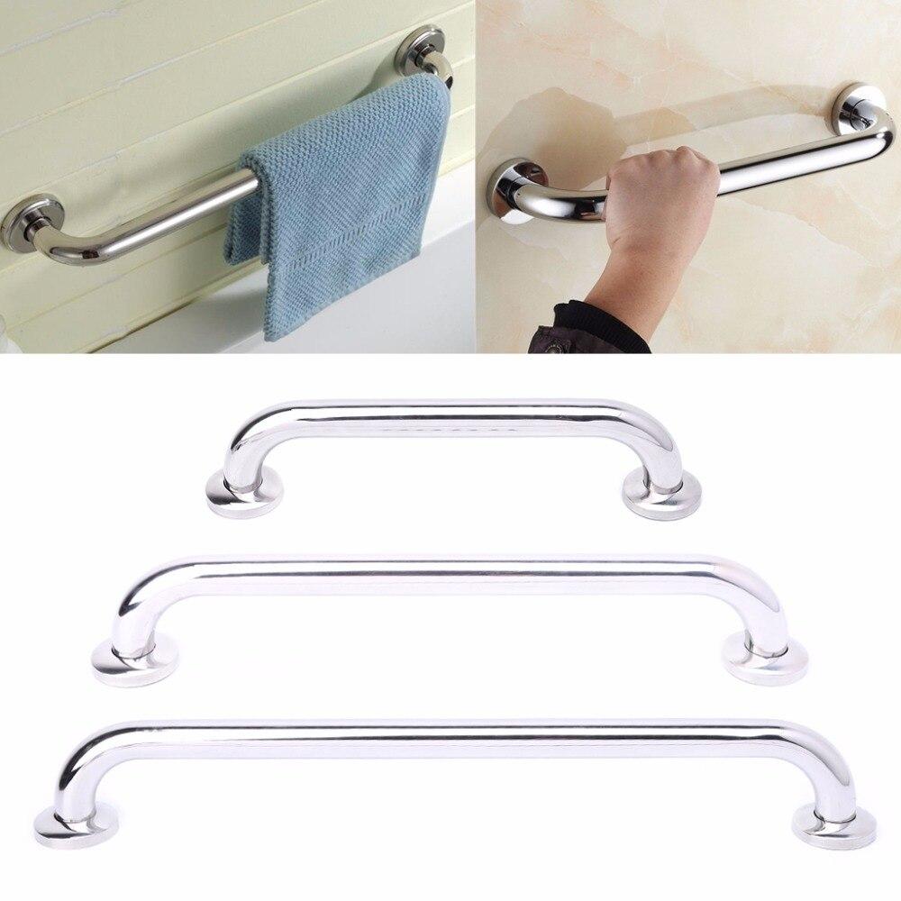 30/40/50cm Stainless Steel Bathroom Tub Handrail Grab Bar Shower Safety Support Handle Towel Rack M08