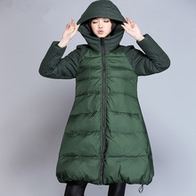 New 2016 Winter Olive Green Jacket Women Italy Plus Size 4XL 5XL Thick Warm Hooded Ultra Light Women Duck Down Coat Snowear