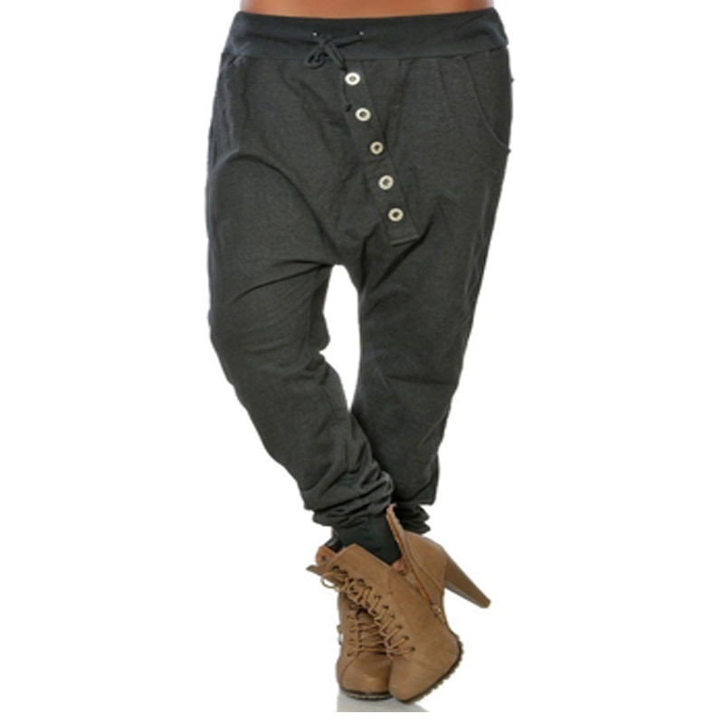 High Waist Pants Loose Trousers Women Casual Solid Long Harem Pants Streetwear Big Size Cargo Pants Women Elegant Trousers 5XL
