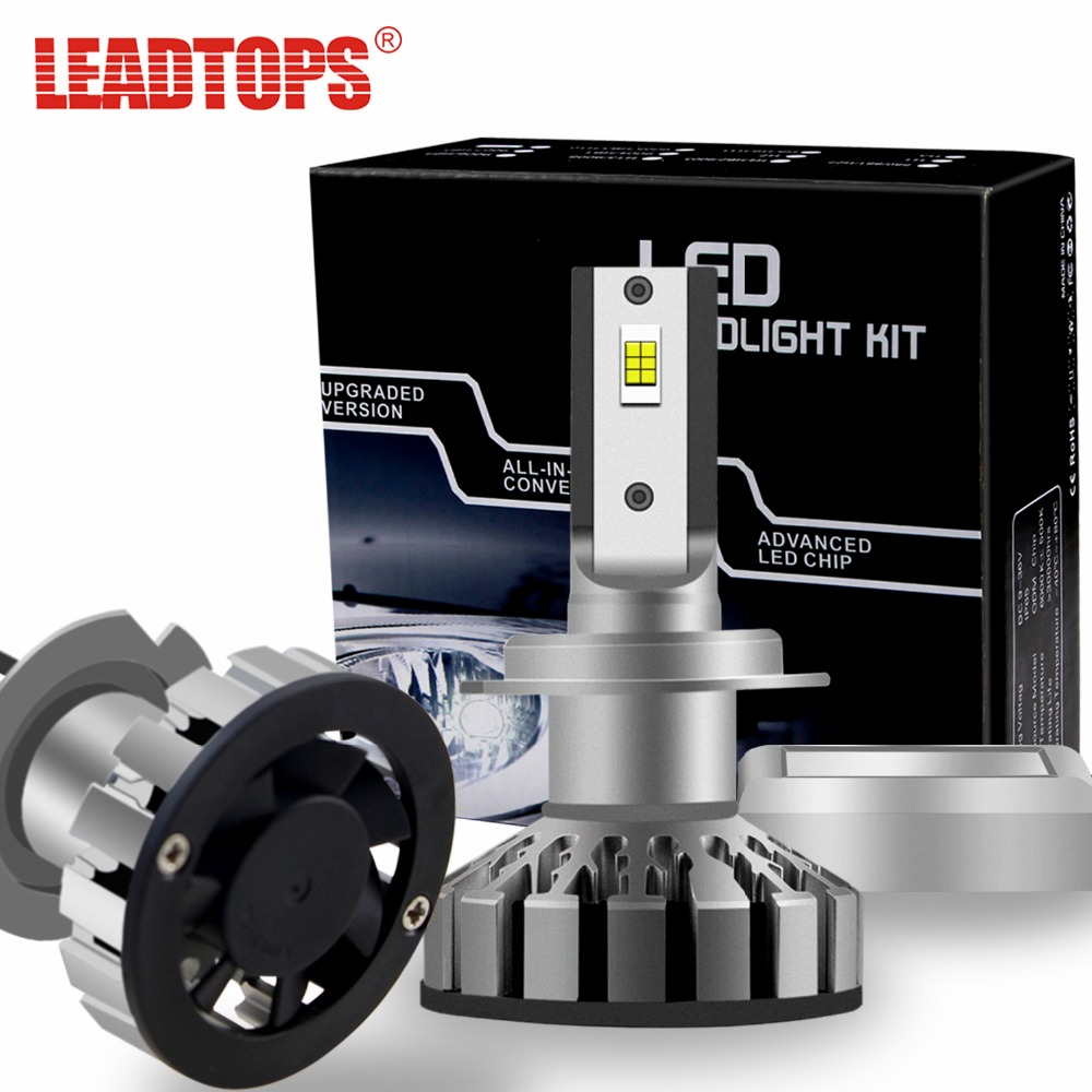 LEADTOPS R8 Car Light H7 LED Headlight Bulbs H1 H11 50W CSP Chips LED Headlights All in one Headlamp Automobile Fog Front 12V CC