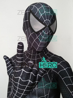 Free Shipping 3D Printed Black Raimi Spider Man Costume Raimi Spiderman Costume With Spider Man Lenses