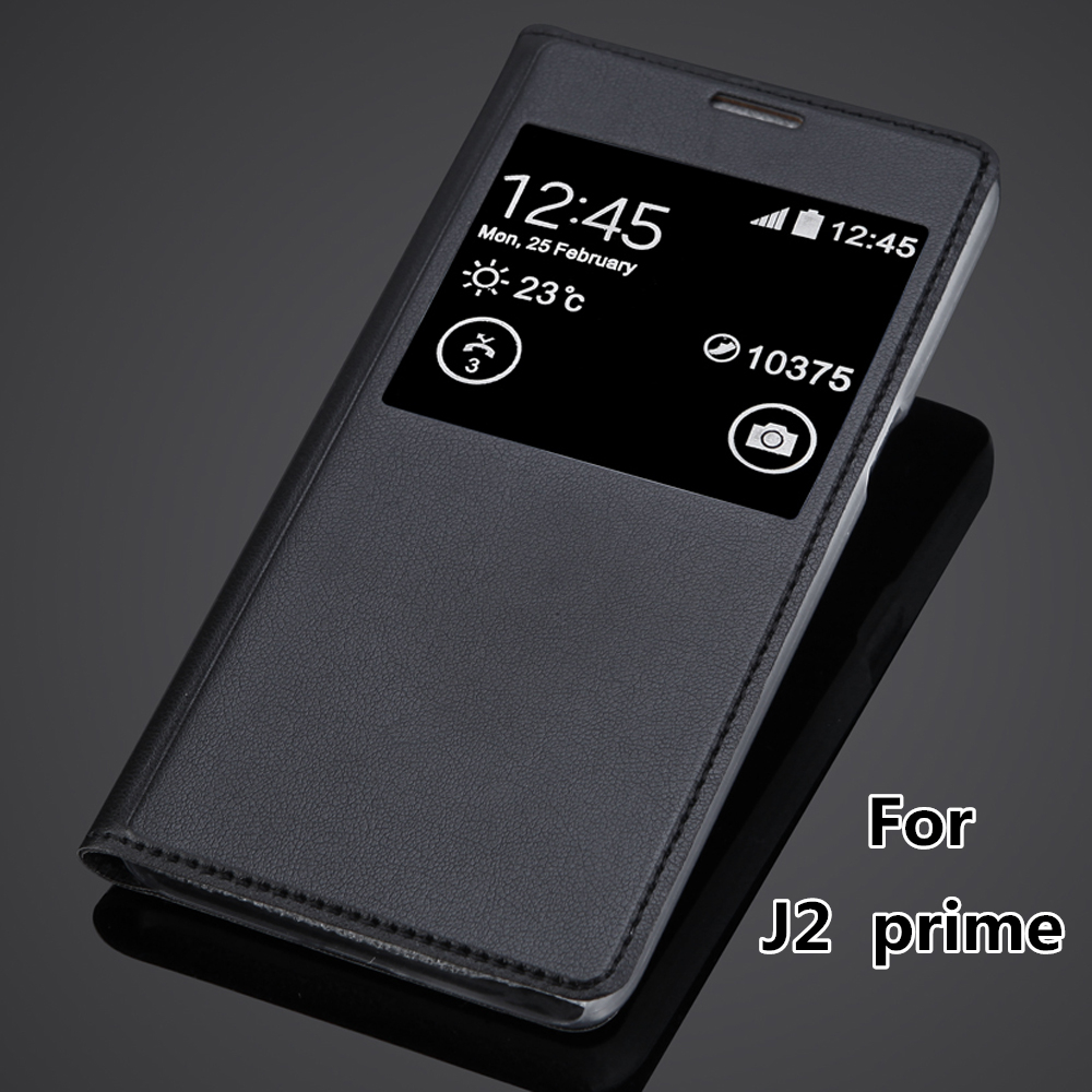 New Luxury Window View Cover Case For Samsung Galaxy J2