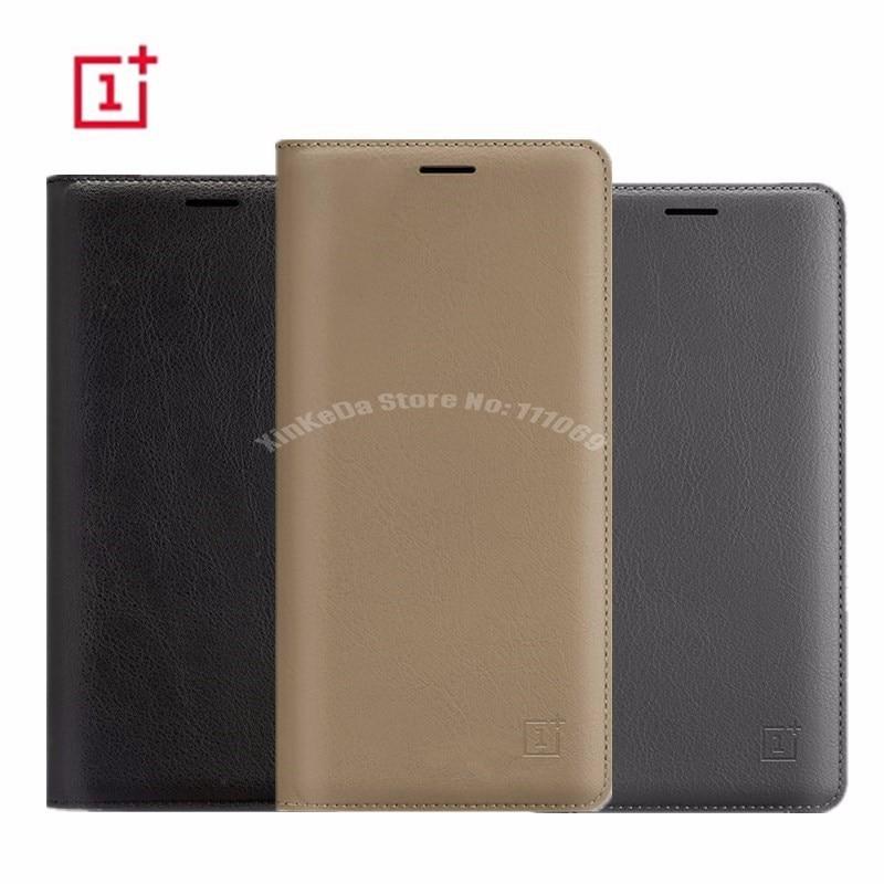 Caso original para oneplus 3 5 t 6 6 t 7pro oneplus5 smart flip couro volta capa oneplus3 telefone com interruptor sono + slot para cartão