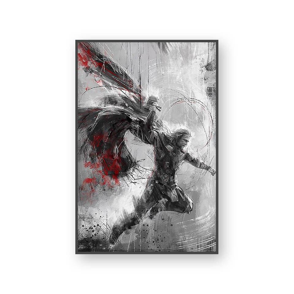 Настенный художественный холст с печатью постера, настенные картины для домашнего декора, Марвел, Мстители, фильм супергерой, Дэдпул, Железный Человек-паук, Локи - Цвет: L394U