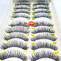 10 Pares de Maquiagem Thick as Pestanas Falsas da Pestana Cruz Natural Cílios Postiços Macio Olhos Grandes Cílios Falsos Extensão Ferramentas de Beleza