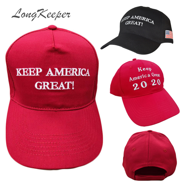 67bda33e790 LongKeeper Keep America Great Hat Donald Trump 2020 Caps Republican Adjust  Black Red Baseball Cap patriots Hat Trump