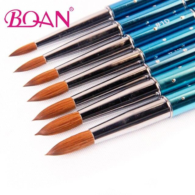 BQAN 1pcs #6#8#10#12#14#16#18 Kolinsky Sable Brush Acrylic Nail Art ...