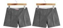 WKOUD 2018 Winter Shorts Women Candy Colors High-Waist Imitate Woolen Shorts Solid Boots Short Pants Casual Wear DK-026