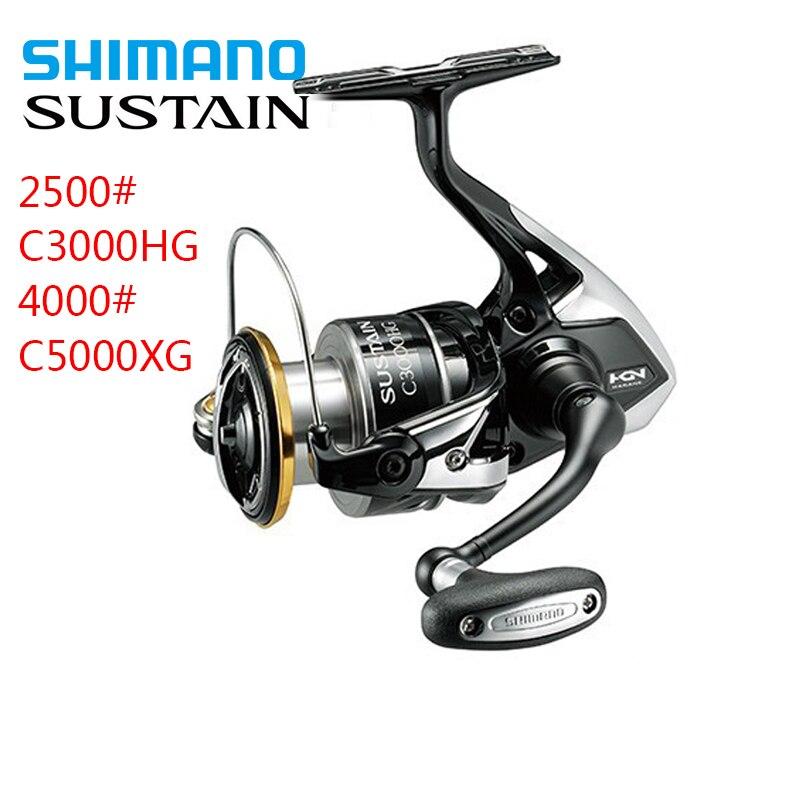 100 Original Shimano Spinning Fishing reel SUSTAIN 2500 C3000HG 4000 9kg Gear Ratio 5 0 1