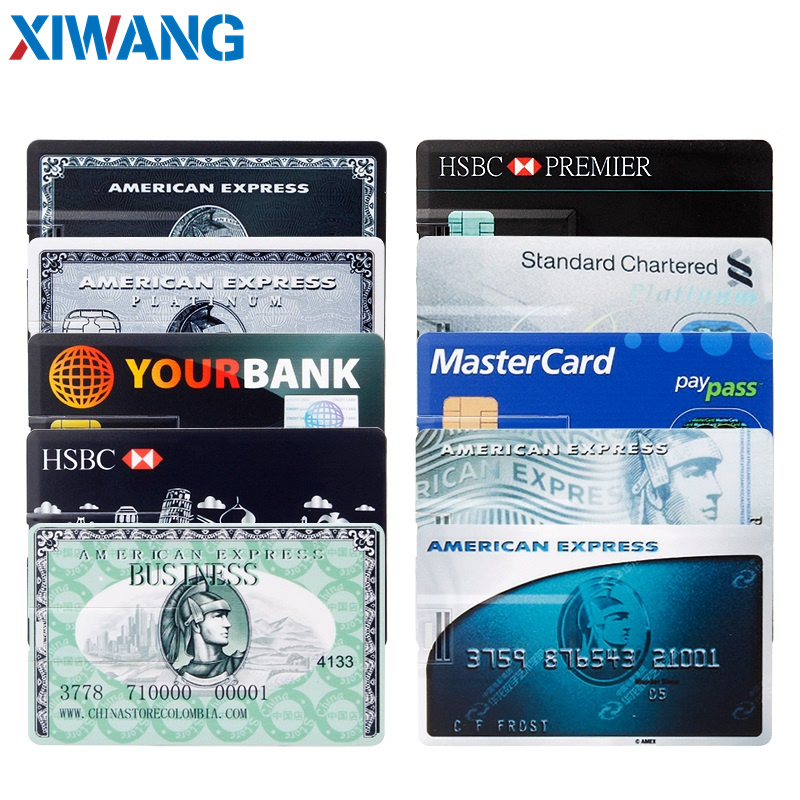 pendrive Bank Credit Card u disk new Waterproof Memory Stick drive 4GB 8GB 16GB 32GB 64GB 128GB USB Flash Drive free custom logo (4)