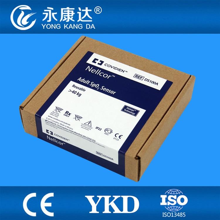 Free Shipping for Original Nellcor ds-100a spo2 sensor for Adult Finger Clip, DB9pin, adult finger clip spo2 sensor for artema 12 pin male