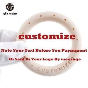 Image 5 - Lets Make Wooden Bracelet 100PCS 70mm Customized Organic Nursing Wooden Eco Friendly Baby Teething Accessories Bracelet