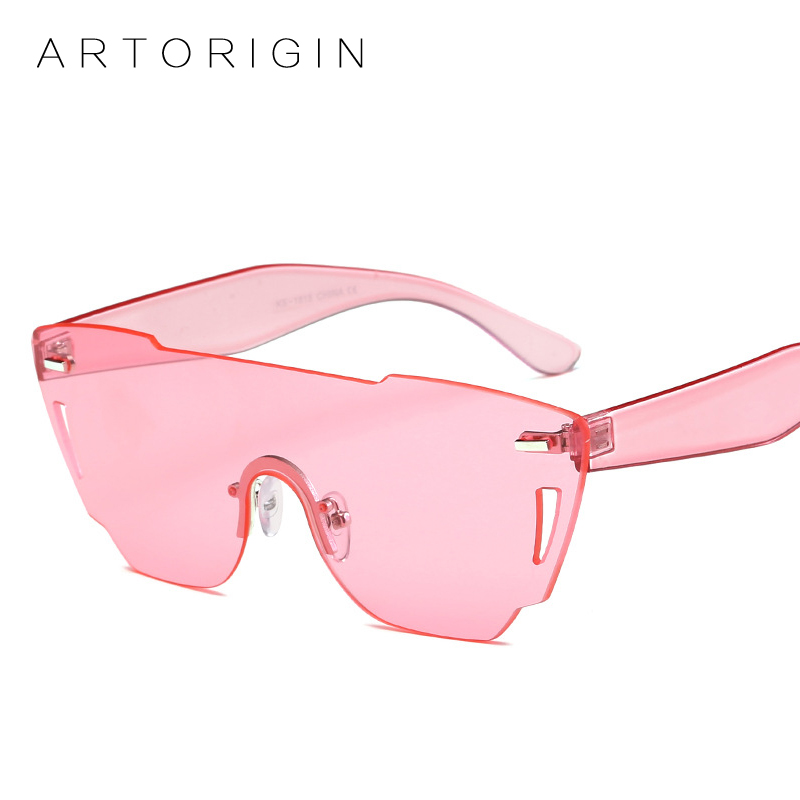1681de9fcc893 Fashion Brand Sunglasses Women Tint Color Lens One Lens Pink Sun Glasses  For Women Men Female Shades Large Frame Lunette