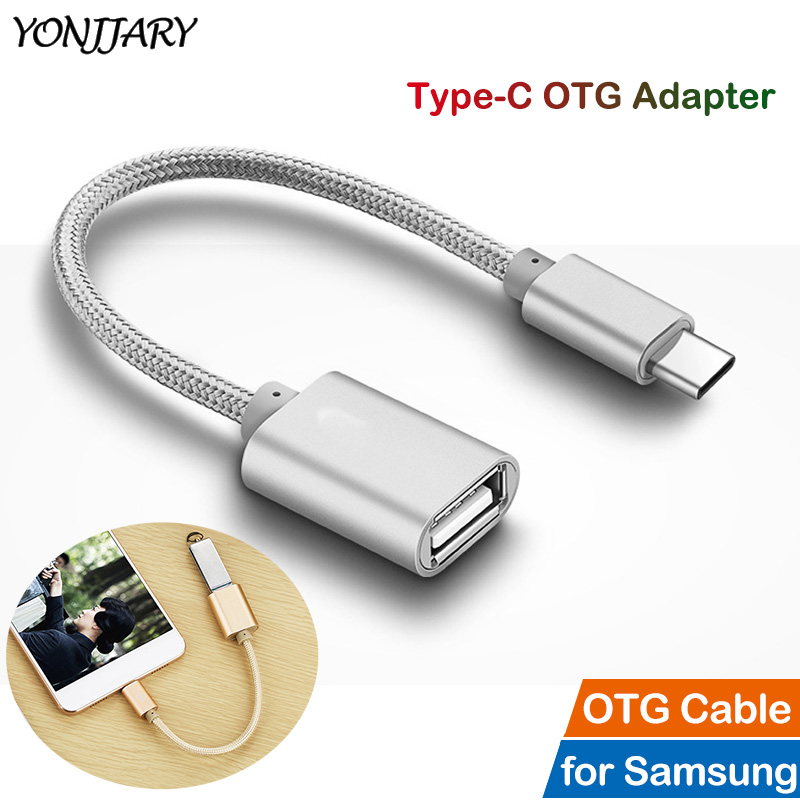 USB Type C OTG Adapter Cable For Samsung Galaxy S8 S9 S10 S20 Plus S10e Note 8 9 10 Pro A8+ 2018 Tab USB C Cable OTG Converter