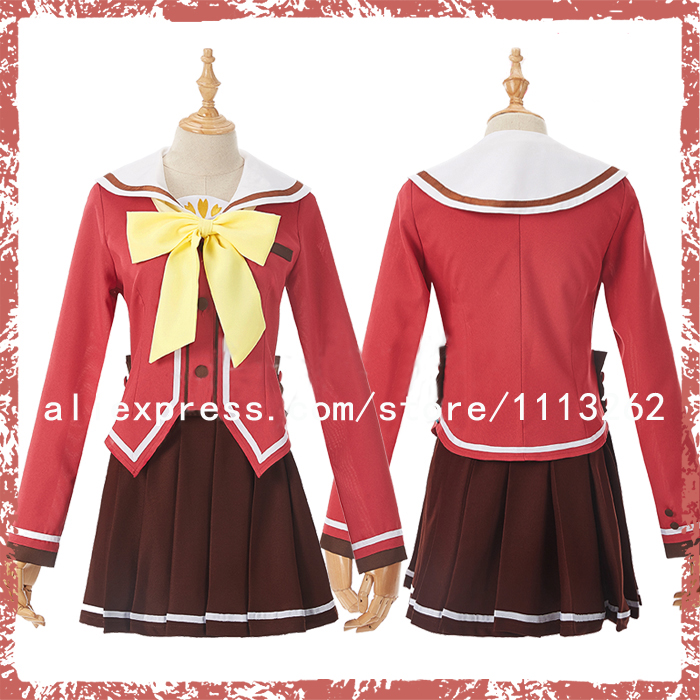 Women's Costumes Smart New Anime Charlotte Nao Tomori Red School Uniform Cosplay Costume