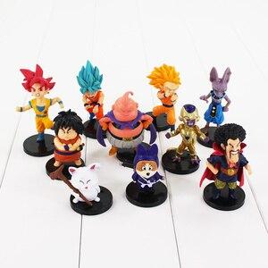 Image 3 - 20 pz/lotto Dragon Ball Z Figura Goku Vegeta Super Saiyan Dio Hercule Freezer Boo Beerus Whi DBZ Mini Modello IN PVC giocattoli Bambole