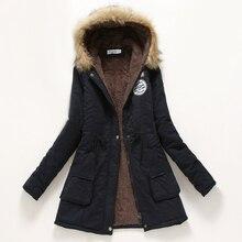 Шубы зимнее утолщение военная зимняя пиджаки капюшоном хлопка куртка повседневная женская