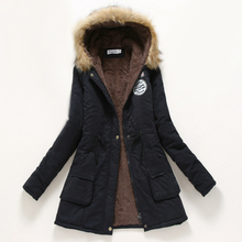 winter coat women 2017  parka casual outwear military hooded thickening cotton coat winter jacket fur coats women clothes d21