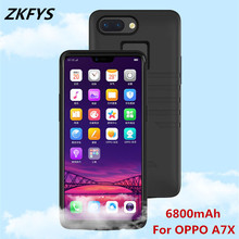 ZKFYS 6800mAh High Quality External Back Clip Battery Charger Cover Case For OPPO A17X Silicone Shockproof Power Bank