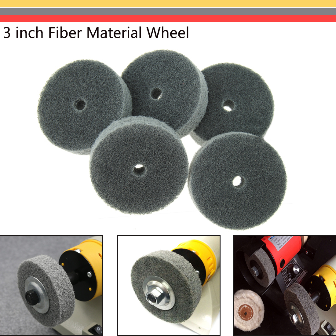 Marble Grinding Home Polishing Car Accessories Polishing 3 Inch Nylon Fiber Wheel Grinding Accessories Preferred