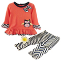 2017 Spring Newborn Baby Girl Cotton Clothing Set Cartoon Bird T-shirt + Leggings Clothes Sets Infant Bebe Menina Wear