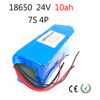 Laudation 24V 10ah Electric bicycle Lithium Ion Battery 29.4V 10000mAh 15A BMS 250W 24V 350W 18650Battery Pack Wheelchair Motor