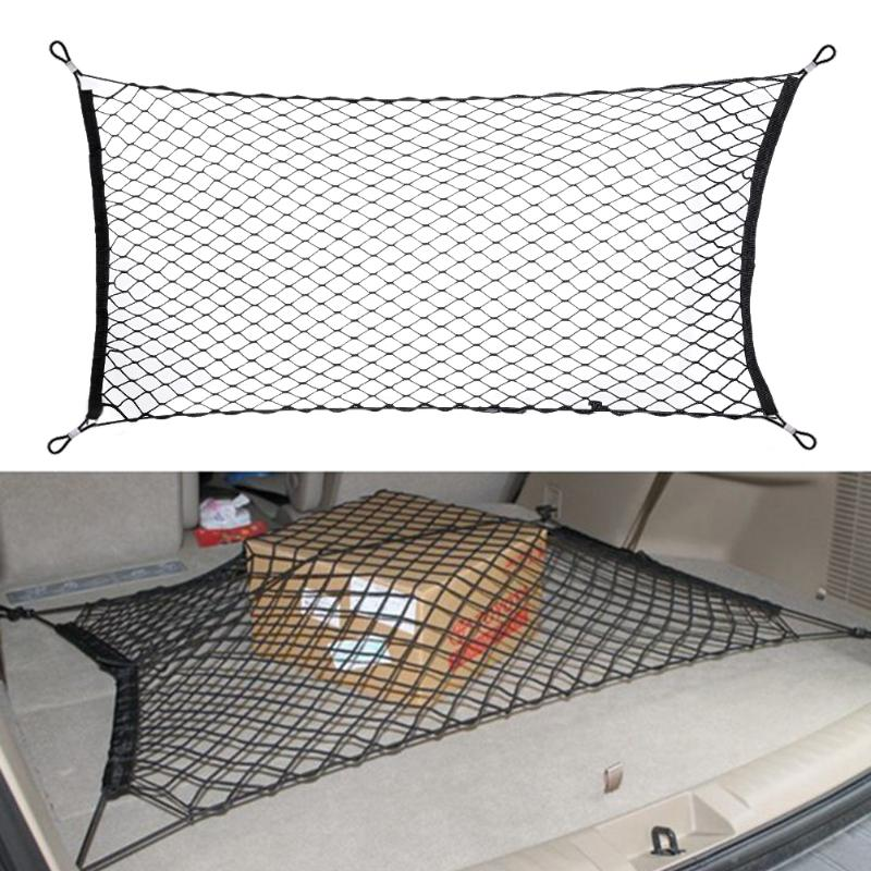 120x60cm Car Styling Boot String Mesh Bag Elastic Nylon Car Rear Cargo Trunk Storage Organizer Luggage Net Holder Auto Accessory-in Nets from Automobiles & Motorcycles