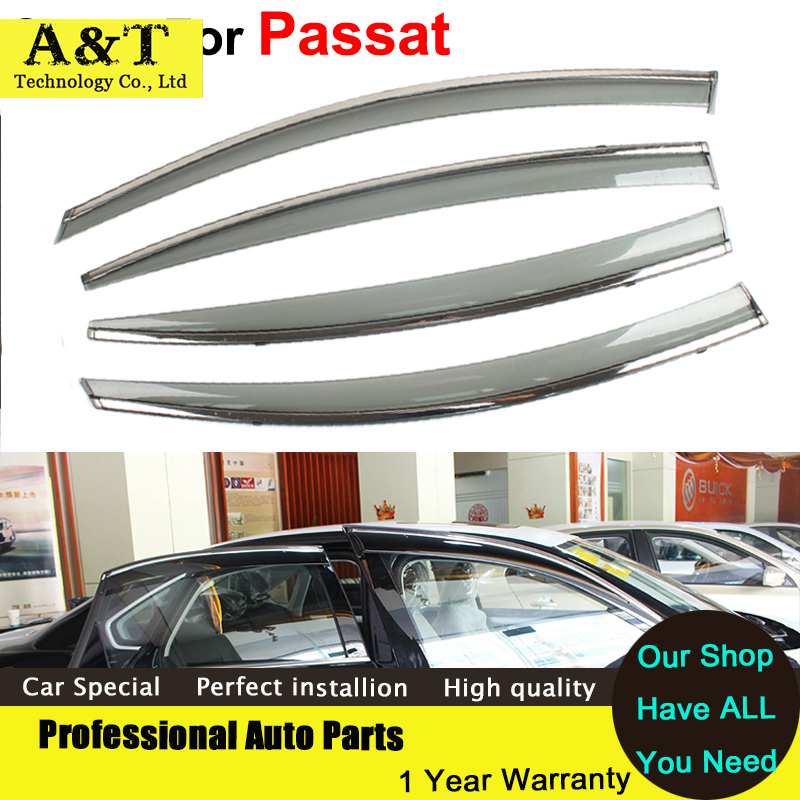car styling Window Visors For VW Passat B7 Sedan 2012 2013 2014 2015 Sun Rain Shield