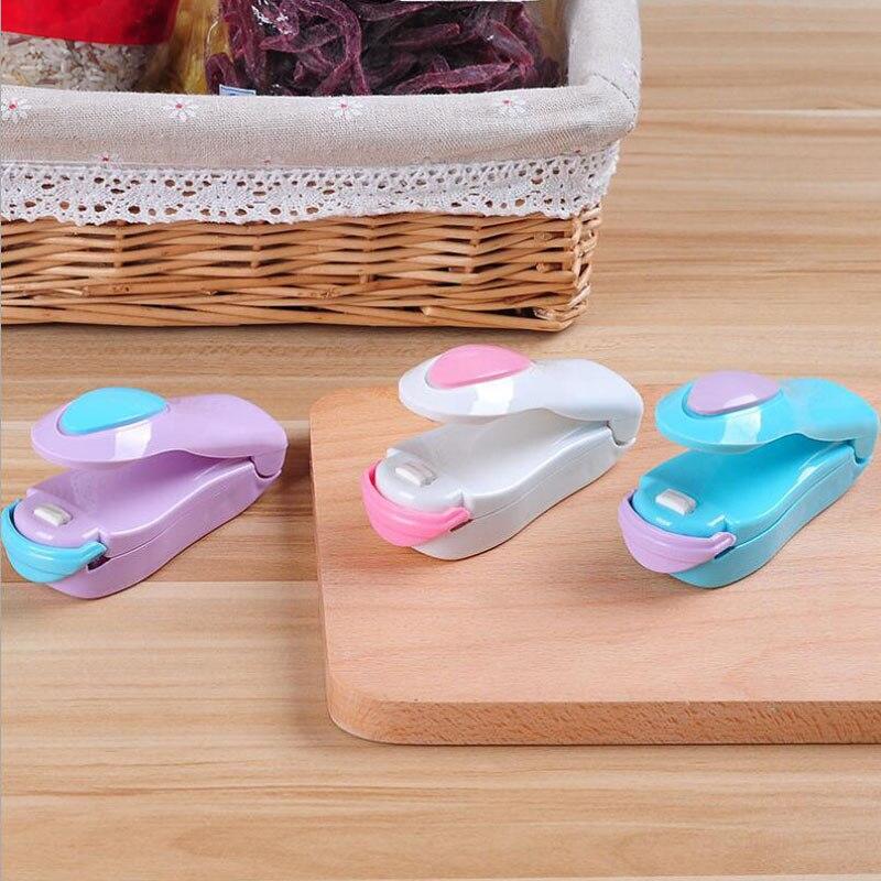 10pcs Creative Portable Household Mini Heat Sealing Machine Ceramic Impulse Sealer Seal Packing Capper Plastic Bag Sealer M30C