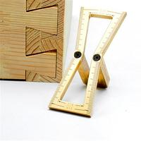 Woodworking Dovetail Marker Gauge Carpenter Copper Hand Cut Wood Joints Gauge Woodworking Tool 1:5 1:6 1:7 1:8