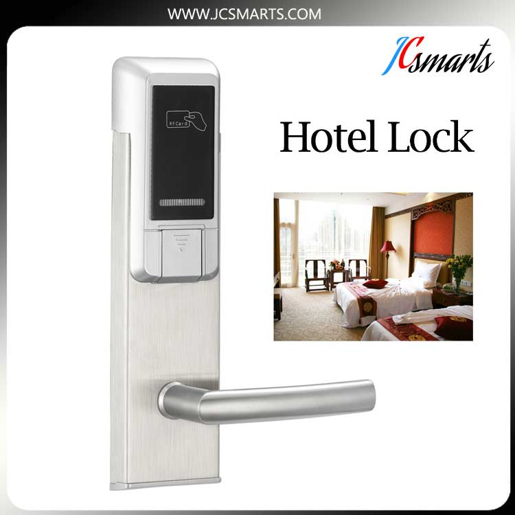 High quality automatic door time locks Hotel lock Intelligent RFID card hotel lock for hotel stainless steel material digital electric best rfid hotel electronic door lock for flat apartment
