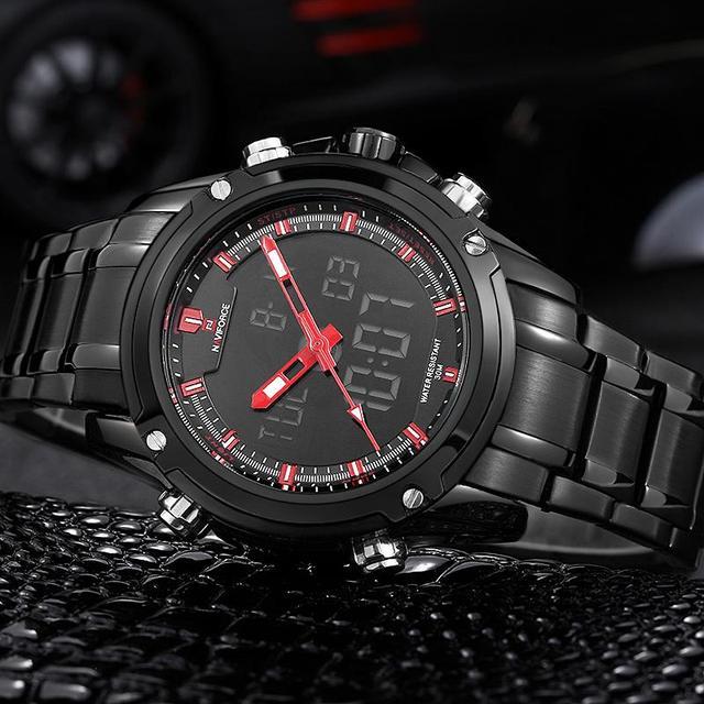 3d488b03a Mens Watches Top Brand Luxury NAVIFORCE Men's Quartz-watch Analog Digital LED  Sports Watch Men