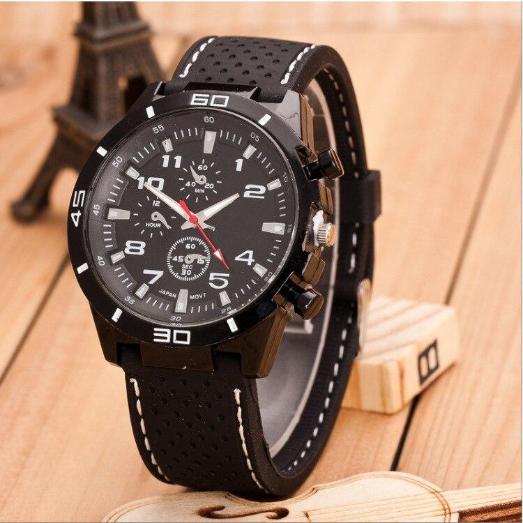 2018 New Fashion three eyes silicone watch men army military sports quartz wristwatch Relogio Masculino все цены