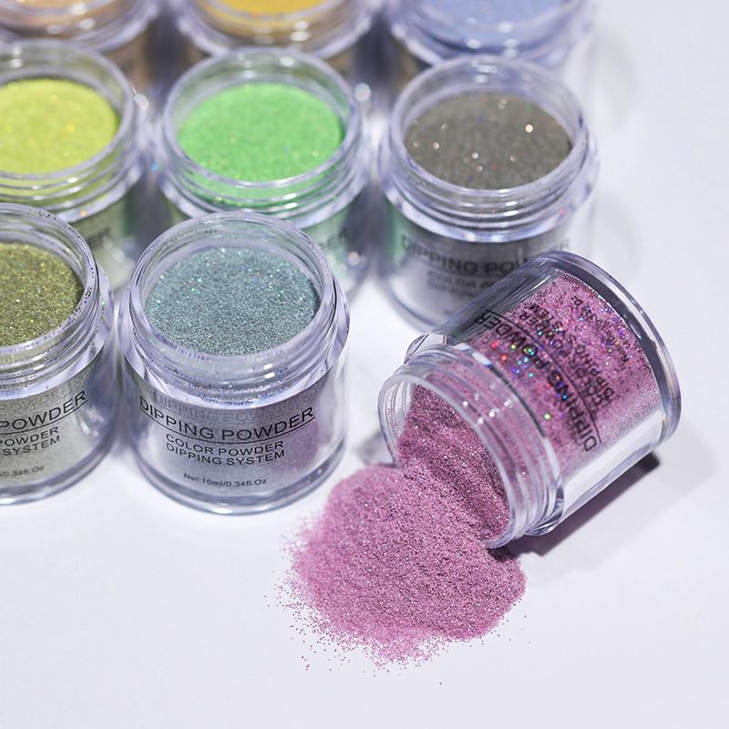 BORN PRETTY Holographic Dip Nail Powders Gradient Dipping Glitter Decoration Lasting than UV Gel Nat