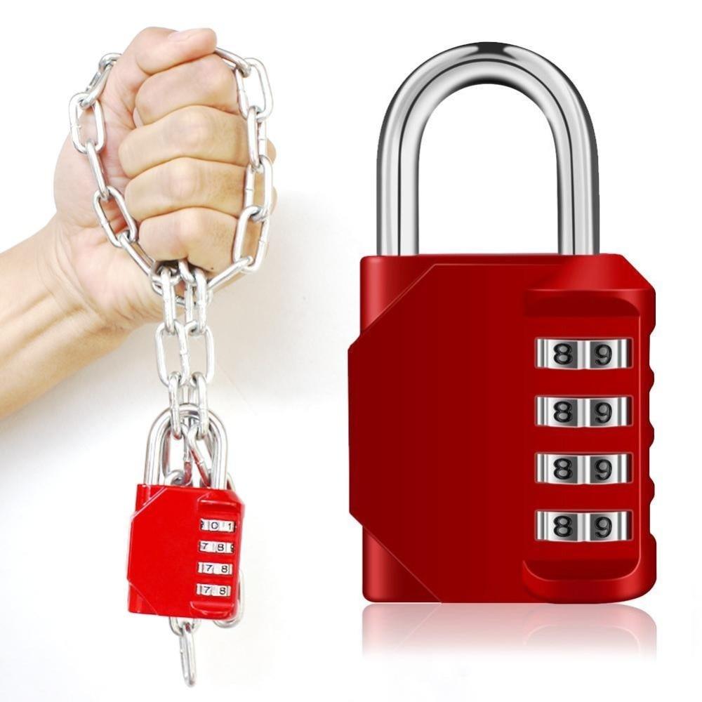 Combination Padlock, 4 Digit Lock Set Cabinet Door Large Metal Password Padlock Re-settable Combo LockGym Locke Employee LockerCombination Padlock, 4 Digit Lock Set Cabinet Door Large Metal Password Padlock Re-settable Combo LockGym Locke Employee Locker