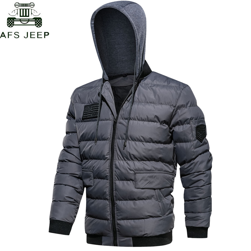 Military Army   Parka   hombre Brand Winter Jackets Men 2019 Warm Thicken Hooded Cotton Padded Jacket Men   parka   homme Plus Size 5XL