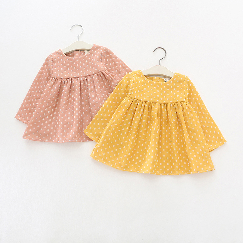 Baby Girl Dresses Clothes Toddler Girl Dresses 2018 Spring Style Children Clothing Dress For Girls Infant Girl Clothing summer baby girls dress ice cream print 100% cotton toddler girl clothing cartoon 2018 fashion kids girl clothes infant dresses